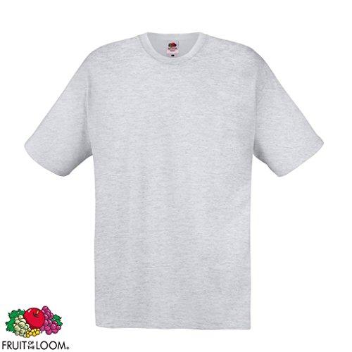 5/10er Fruit of the Loom Herren Original T-Shirt Rundhals 100 % Baumwolle S-XXL 5x Weiß und Grau