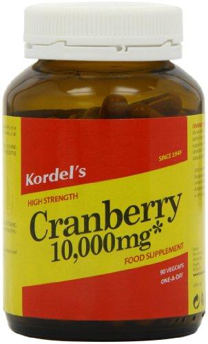 Kordel Nutrition Cranberry Vegcapsules 10000mg Pack of 90