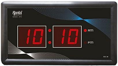 Ajanta Plastic Digital Clocks(Black, 41.5x19.5x38cm)