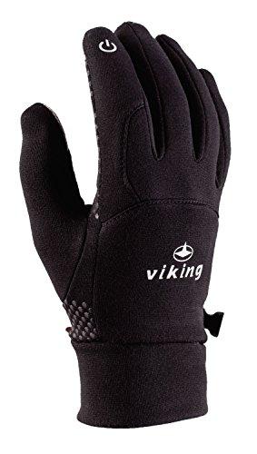 Viking Multifunktions Handschuhe Winter Damen und Herren für Eislaufen, Jogging, Wandern, Radfahren - Horten, 09 schwarz, 7