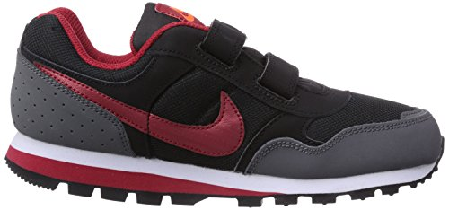 Nike Md Runner Psv, Chaussures de running garçon Noir (Black/Gym Red-Hyper Cr)
