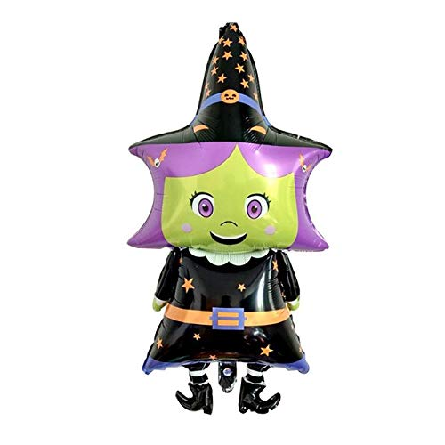 WSCOLL Cartoon Halloween Kürbis Spinne Geist Hexe Aufblasbare Folienballons DIY Halloween Party Decor Bunting Banner Party - High 5 Geist Kostüm