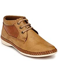 Levanse New Tan Leather Boot Casual Shoes For Men / Boys.