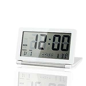 Pixnor Pliable bureau numérique électronique Date température Snooze réveil