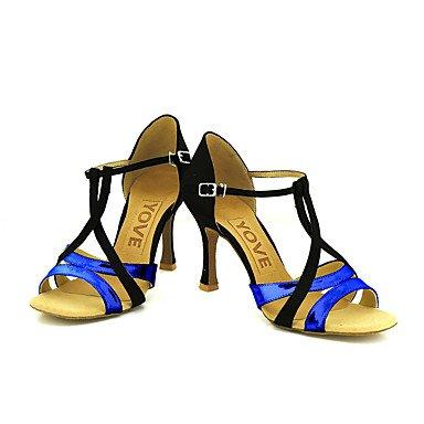 Scarpe da ballo-Personalizzabile-Da donna-Balli latino-americani / Salsa-Tacco su misura-Brillantini-Blu / Viola / Rosso / Argento / Purple