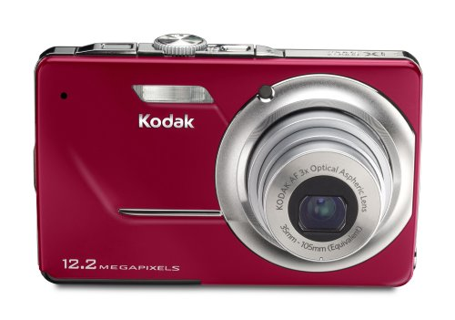 Kodak EasyShare M341 Digitalkamera (12,2 Megapixel, 3-fach opt. Zoom, 6,9 cm (2,7 Zoll) Display) rot