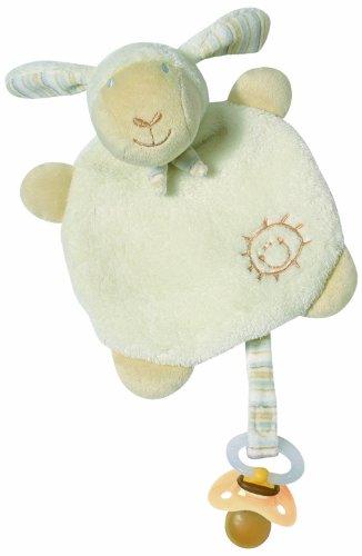Fehn BabyLove Schaf Kuscheltuch mit Schnullerhalter
