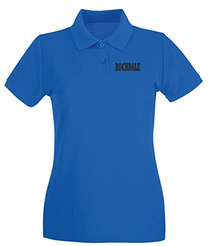 T-Shirtshock - Polo pour femme WC0766 ROCHDALE Bleu Royal