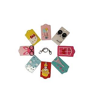 Schlüsselanhänger – Karte – Bus – Kreditkarte – Club – 8 Stück