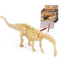 Lenfesh 12x9x4.5cm 4D Plastic Assembled Dinosaur Skeleton Model Toy Fossil Dig Kit Dinosaur Bones Gift for Paleontology Archeology Enthusiasts
