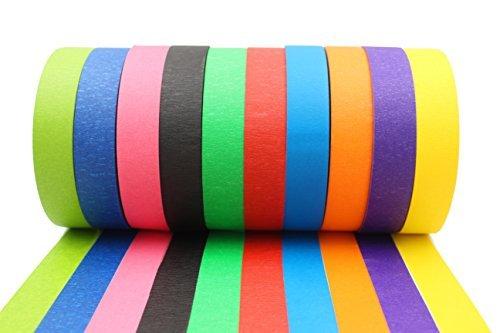 farbige klebestreifen Farbiges Klebeband – Dekorativ, Beschriftbar - Große Rollen – Dekoration für Klassenzimmer, Kunstprojekte für Kinder, Feiertagsdekorationen – Buntes Klebestreifen Tape mit Leuchtenden Farben