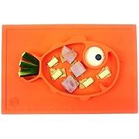 Tovaglietta con pesce sorridente Hexnub , Mat silicone Ventosa tuta e Plate - Bambino e Neonato Piccoli e Grandi