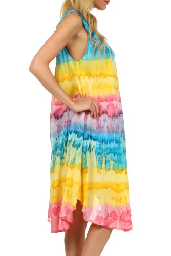Sakkas Wüstensonne Kaftan Kleid oder Vertuschung für Damen Türkis / Gelb