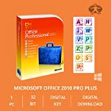 Microsoft Office Professional plus 2010 OEM Key 32/64 Bit - Original Lizenz Vollversion - NEU Bild