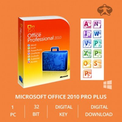 Produktbild Microsoft Office Professional plus 2010 OEM Key 32/64 Bit - Original Lizenz Vollversion - NEU