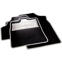 carfashion 254578universal pie   Juego de alfombrillas para escalón Protección y costuras en weiss  sin soporte, Auto Esterilla apta para muchos tipos Auto