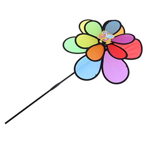 DIY Sonnenblume Windmühle Windrad Windspiel Aus Stoff Garten Balkon Terrasse Blume Dekoration Deko | Garten > Dekoration > Windmühlen | D DOLITY