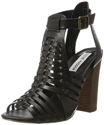 Steve Madden Damen Sandalette Black Leather
