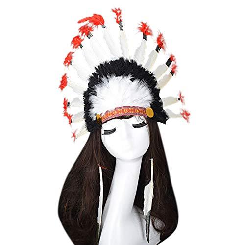 Produp Adult Kopfschmuck Feather Deluxe Mulitcolor Mardi Gras Fancy Kleid Karneval Hut würdevoll und großzügig Nizza und komfortable ()