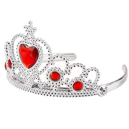 Lovelegis (Rot) Krone Krone Tiara für kleine Mädchen Princess Queen mit bunten Steinen - Zubehör Verkleidung Karneval Halloween Cosplay