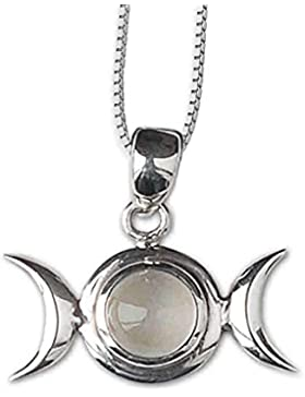 Anhänger Mondphase Keltischer 925er Silber Schmuck - Für psychische Fähigkeiten - mit Kette Halskette Silberkette...