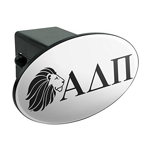 Alpha Delta PI Sorority Löwe Griechische Buchstaben schwarz Offizielles Lizenzprodukt Oval Anhängerkupplung Trailer-Plug Einsatz 5,1cm