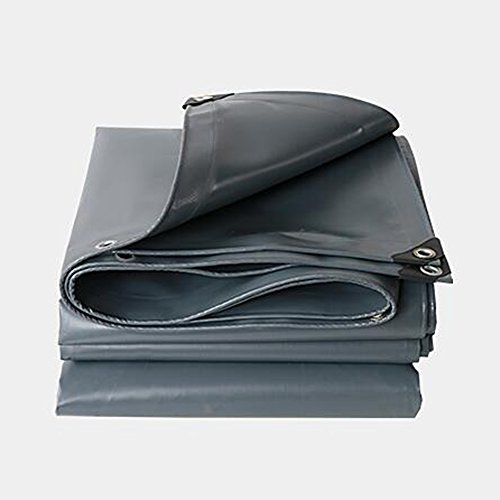 Teloni meiduo coperchio telo argentato/nero materiale spesso resistente, impermeabile, ottimo per tenda da tetto in tela cerata, copertura per barca, camper o piscina per esterno
