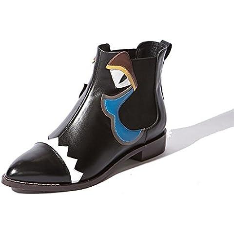 Otoño e invierno cuero femenino señalaban Little Monster Fashion Boots , monster eye , 42