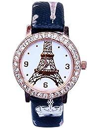 Divine New Arrival Rose Gold Diamond Studded Brown Leather Quartz Wrist Watch For Women Belt Women Watch Watch...