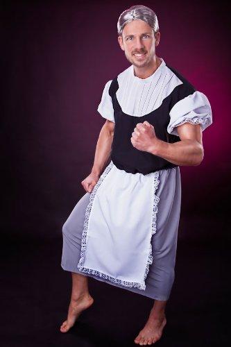 �r Herren Gr. L Omakostüm Granny lustige Kostüm (Lustige Alte Frau Kostüm)
