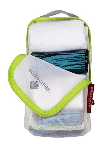 Eagle Creek Packtasche Pack-It Specter Quarter Cube - Übersicht beim Reisen durch Tasche in Tasche System, white/strobe