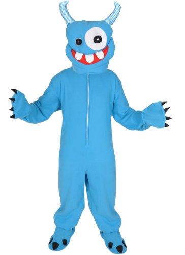 Kostüm Monster Süßes - Monster blau Einheitsgrösse L - XL Kostüm Faschig Karneval Maskottchen Halloween