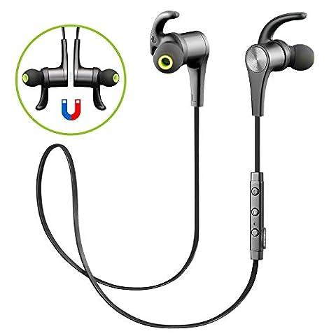 SoundPEATS Écouteurs Bluetooth 4.1 Sport sans fil D'exercice avec Microphone