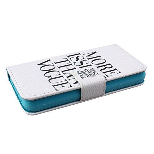 Felfy Iphone 6 Plus Custodia Cover, Elegante Borsa Magnetico Portafoglio PU Pelle Flip Custodia Protettiva Case Cover Protezione Chiusura Ventosa (Torta) per Apple Iphone 6 Plus + 1x Stilo Penna + 1x  MORE ISSUES THAN VOGUE
