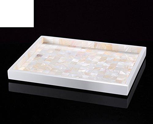 Vassoio rettangolare shell/ frutta/ bianco deposito/Acqua deposito-B