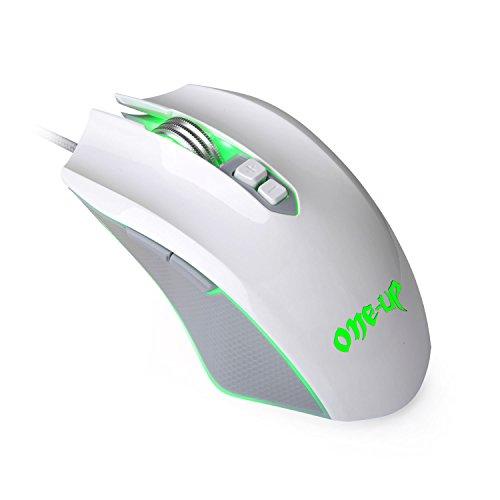 Ratón para juegos, 4200 dpi 7 Botón y 6 relajante LED colores Wired Gaming ratón PC