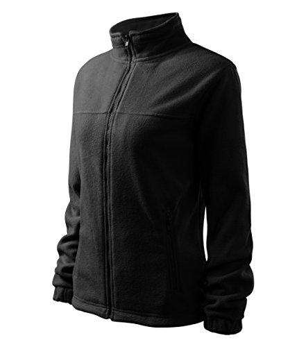 MIHEROS Outdoorbekleidung - warme und weiche Fleecejacke für Damen - Länger haltbar dank Anti-Pilling-Microfleece Schwarz