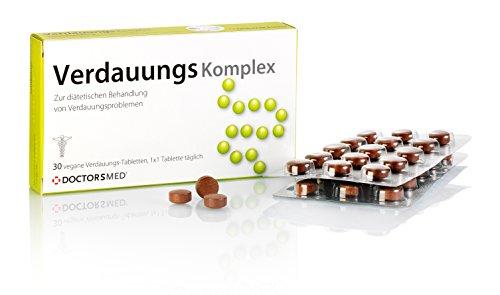Verdauungs Komplex - 100% natürliche Tabletten gegen Magenbeschwerden wie Verstopfung, Blähungen, Bauchkrämpfe oder Völlegefühl, verdauungsfördernd