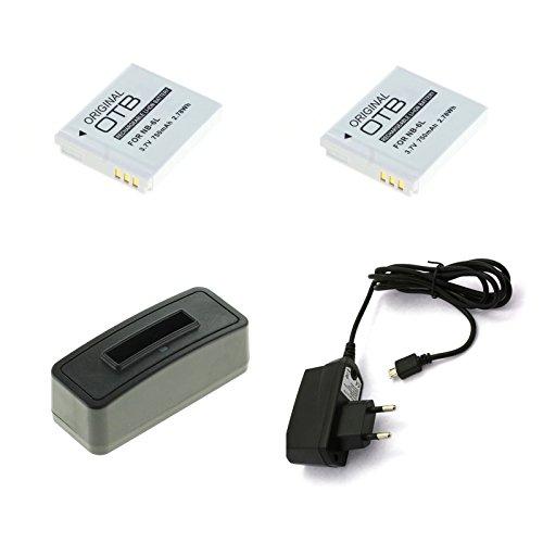 bg-akku24 2 Stück Akku, Ladegerät und Netzteil für Canon Powershot SX500 is, SX510 HS, SX520 HS, SX530 HS, SX540 HS, SX600 HS, SX610 HS, SX700 HS, SX710 HS - NB-6L, NB-6LH