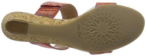 Van Dal Epsom, Sandales  Bout ouvert femme Orange (coral Blossom)