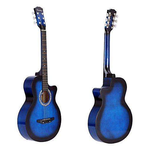'Andoer–38acústicas folk de 6cuerdas de guitarra para principiantes estudiantes regalo, azul