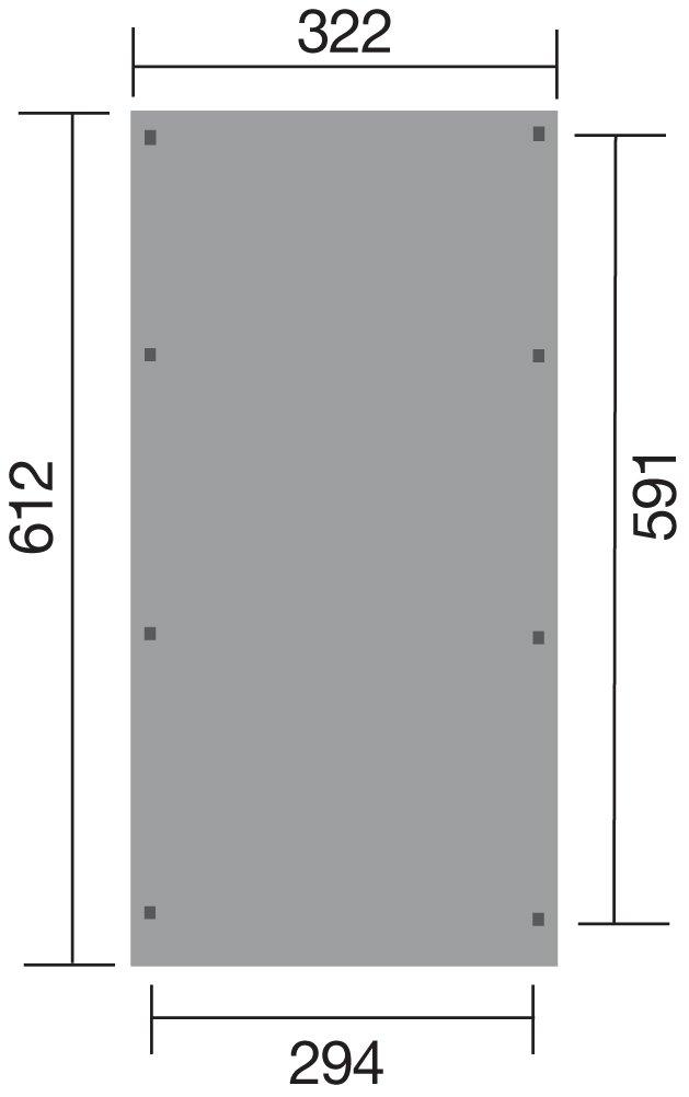 weka Einzelcarport 606 A Gr. 1 mit Rundbogen, kdi
