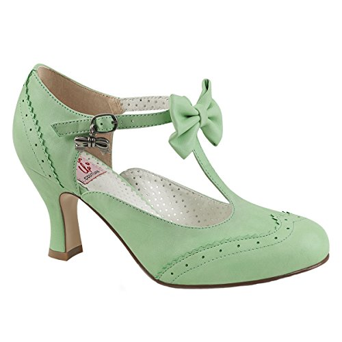 Pin Up Couture Spangen-Pumps Flapper-11 mint Gr. 36