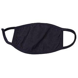 Demarkt Unisex Mundschutz Maske Gesichtsmaske Baumwolle Mundschutz Gesichtsmaske Mundmaske Schwarz