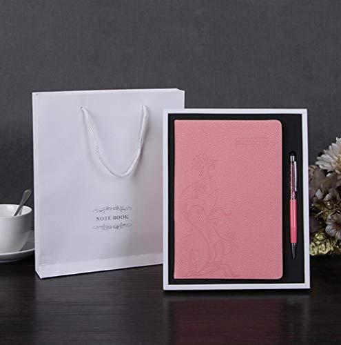 Sun Glower Büro Schulbedarf Leder Journal Geschenkset handgemachte schreiben Notebook rustikale Ledergebundene Daily Notepad (rosig) Briefpapier Geschenkset (Rustikales Leder Journal)