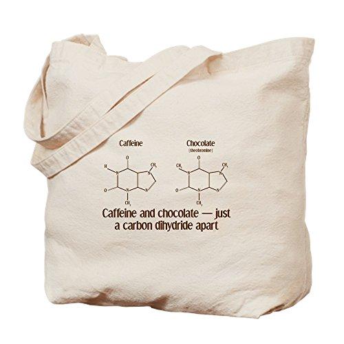 CafePress–Koffein & Schokolade–Leinwand Natur Tasche, Reinigungstuch Einkaufstasche, canvas, khaki, S (Khaki Schokolade)
