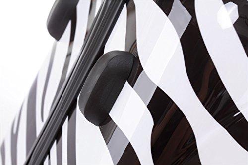 Reisekoffer 2060 Hartschalen Trolley Kofferset in 12 Motiven SET--XL-L--M-- Beutycase (Zebra, 3er Set(XL+L+M)) - 4
