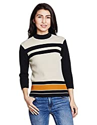 Levis Womens Striped T-Shirt (36399-0000_Black_Medium)