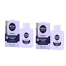 2 Lots X Nivea for Men Sensitive After Shave Lotion - 100 ml
