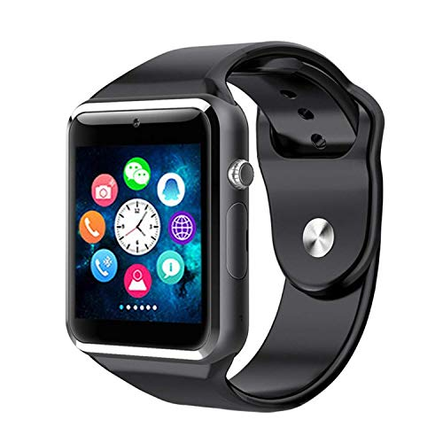 M9 Bluetooth Smart Watch Compatible with All 3G, 4G Phone with Camera and Sim Card Support Compatible with All Android and iOS Smartphones M9 (Black)